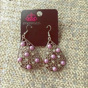 Lavender pearl with bling earrings